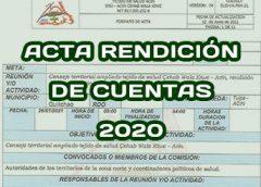 Acta rendición de cuentas Tejido Salud periodo Enero – Diciembre 2020